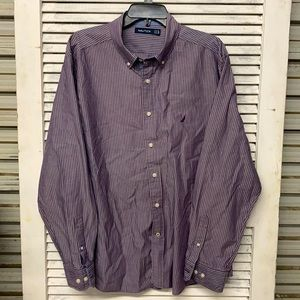 Nautica Men's Button Down Dress Shirt XL